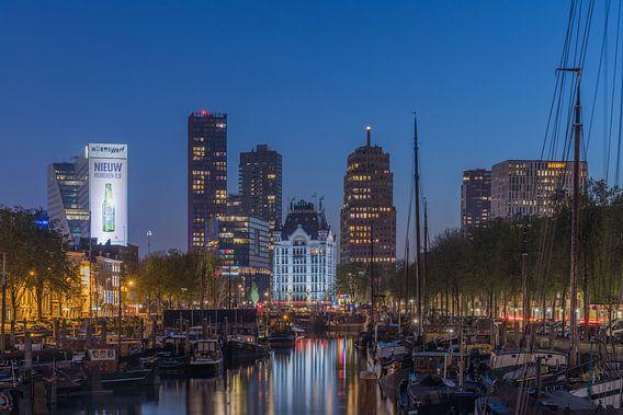 Le Haringvliet à Rotterdam au cours de l'heure bleue