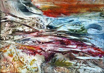 Land met rode lucht van Claudia Gründler