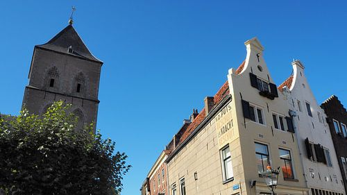 Buitenkerk met gevels Oudestraat Kampen