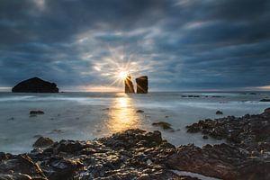 Zonsondergang op de Azoren