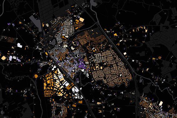 Kaart van Boxtel abstract van Stef Verdonk