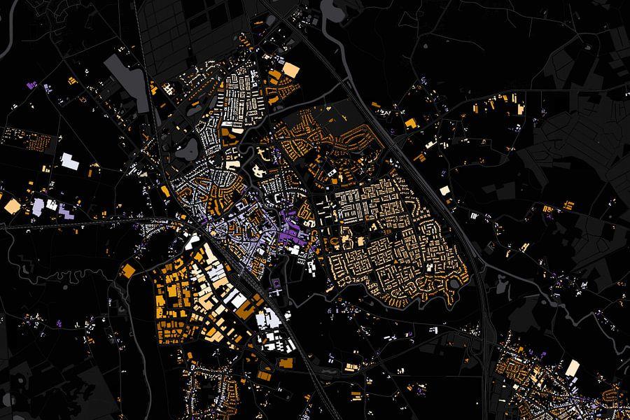 Kaart van Boxtel abstract