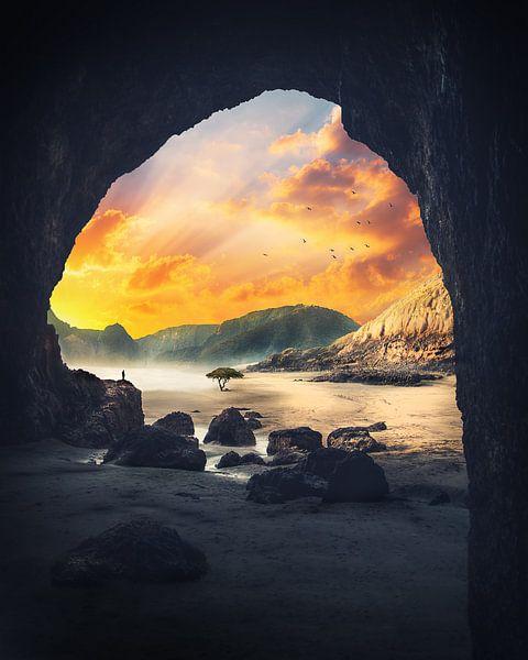 Dromerig landschap. van Roman Robroek