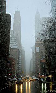 'Chrysler Building en regen', New York