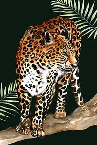Leopard auf dem Ast