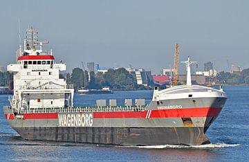 Het vrachtschip Virginiaborg van Piet Kooistra