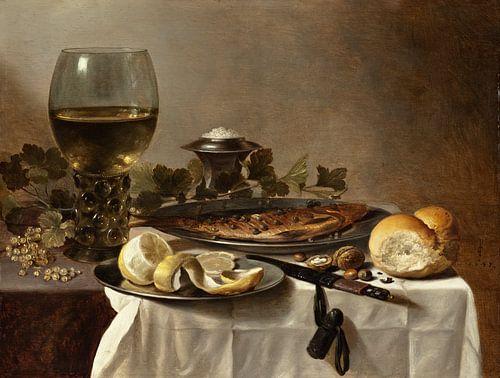 Pieter Claesz. Stilleven met oesters van 1000 Schilderijen