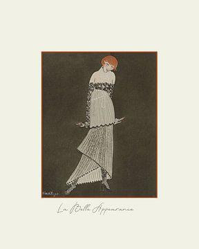 La belle appearance - Abendkleid, historische Mode, festliche Art Deco Werbung 1920er Jahre, elegant von NOONY