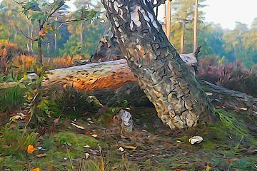 Al is het hout nu nog zo oud,insekten graven als naar goud. van Arie Visser