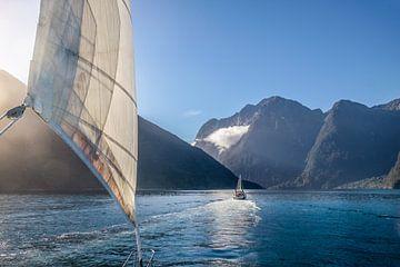 Auf dem Boot im Milford Sound, Neuseeland von Christian Müringer