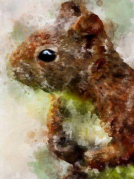 eekhoorns van Printed Artings
