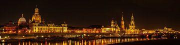 Dresden bei Nacht von Ullrich Gnoth