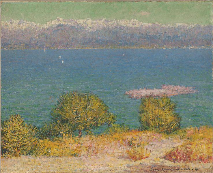 John Peter Russell Landschaft, Antibes (Golf von Nizza) von finemasterpiece