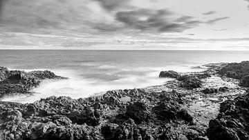 De kust van Gran Canaria in Zwart Wit van de Roos Fotografie