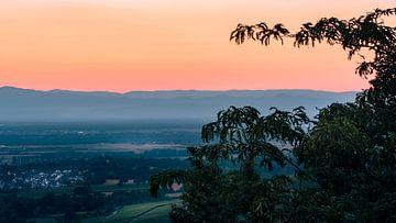 Coucher de soleil dans les Vosges sur Steven Van Aerschot