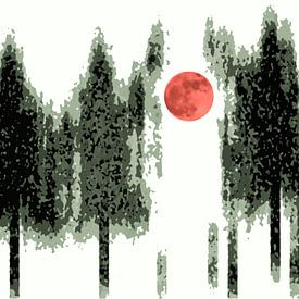 Mond von Wil van der Velde/ Digital Art