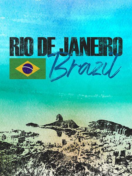 Rio de Janeiro Brazilië van Printed Artings