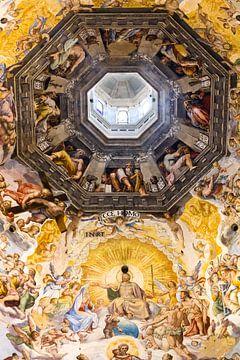 Fresko in der Kuppel der Kathedrale von Florenz, Giorgio Vasari von Dennis van de Water