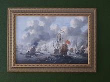 Photo de nos clients: VOC Zeeslag schilderij: Het verbranden van de Engelse vloot voor Chatham, 20 juni 1667, Peter van de, sur toile
