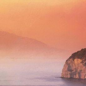Italië Golf van Napels Vesuvius van Schildersatelier van der Ven