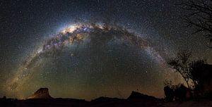 Melkweg in de nacht