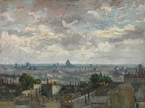Vincent van Gogh, Gezicht op Parijs