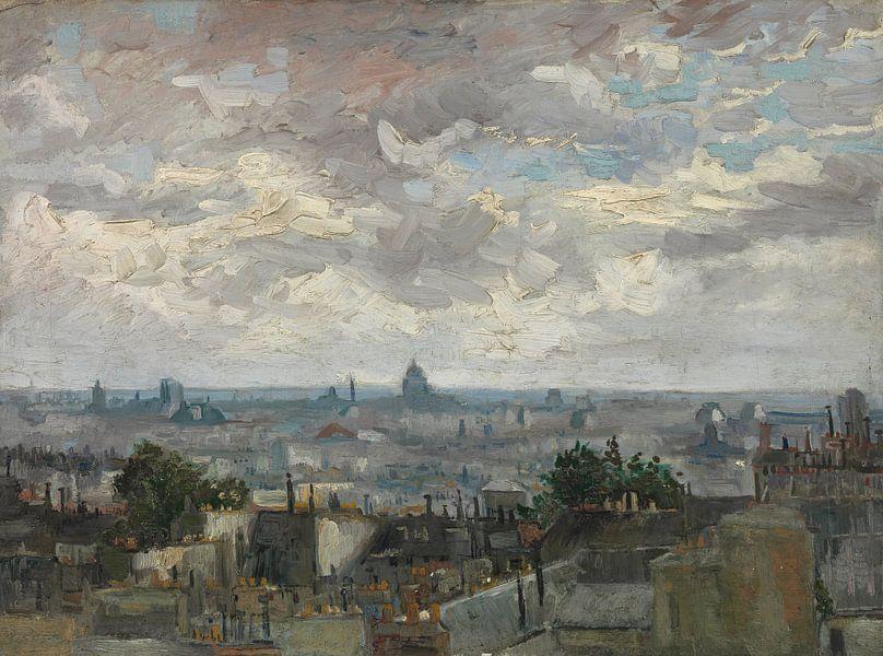 Vincent van Gogh, Gezicht op Parijs van 1000 Schilderijen