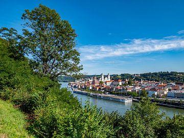 Skyline van Passau in Neder-Beieren van Animaflora PicsStock