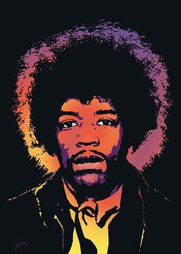 Jimi Hendrix van Jarod Art