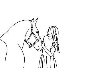 fille avec son cheval