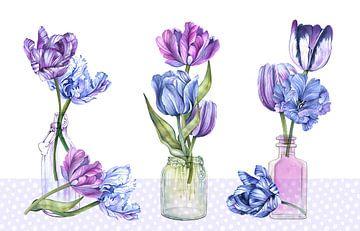 Tulpen stilleven van Geertje Burgers
