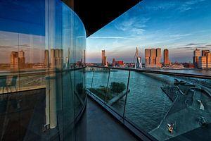 Weerspiegeling van Rotterdam