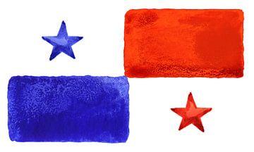 Symbolische nationale vlag van Panama van Achim Prill