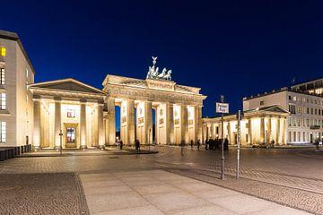 Porte de Brandebourg et Pariser Platz à l'heure bleue