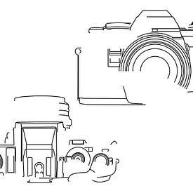 Analoge Camera Silhouet (Minolta X-500-style) van Drawn by Johan