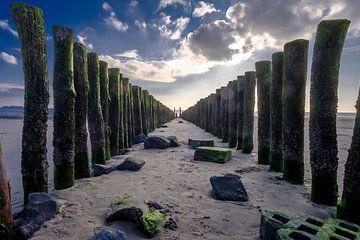 Golfbrekers aan de Zeeuwse kust van Frank de Groene