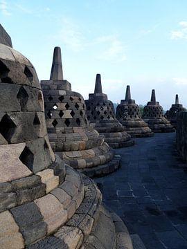 Borobudur Yogyakarta (Java Indonesië) van Berg Photostore