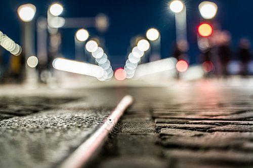 Straatverlichting met Bokeh in de avond