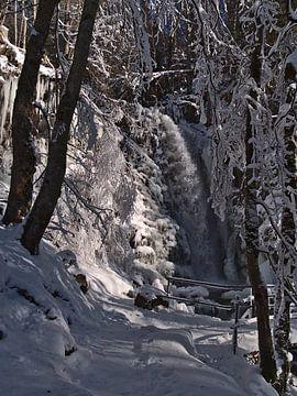 Todtnau watervallen in de winter van Timon Schneider