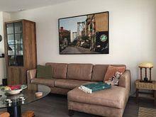 Klantfoto: New York, Brooklyn,  Williamsburg Bridge van Ton deZwart, op canvas