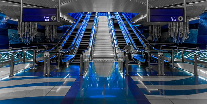 Metrostation Burjuman, Dubai van Timo  Kester