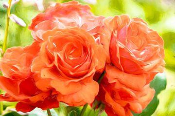 Bloemen schildering van Dutch Creator