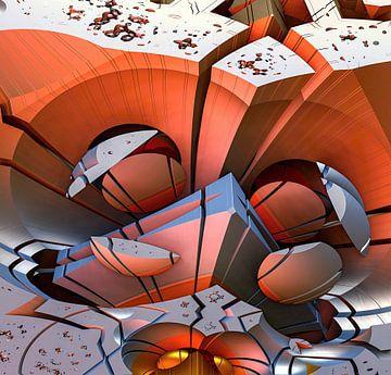 fantasie abstract van W J Kok