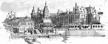 Centraal station, Amsterdam  von Christiaan T. Afman