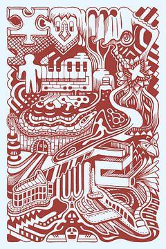 Phantasie-Dudel von Simon van Kessel