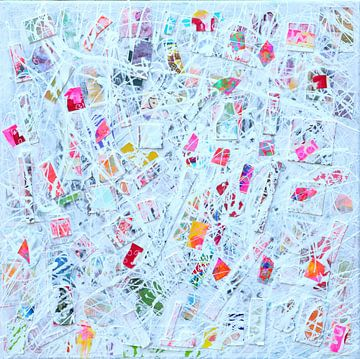 """Moderne Malerei à la Pollock """"Positive Energy"""". von Ina Wuite"""