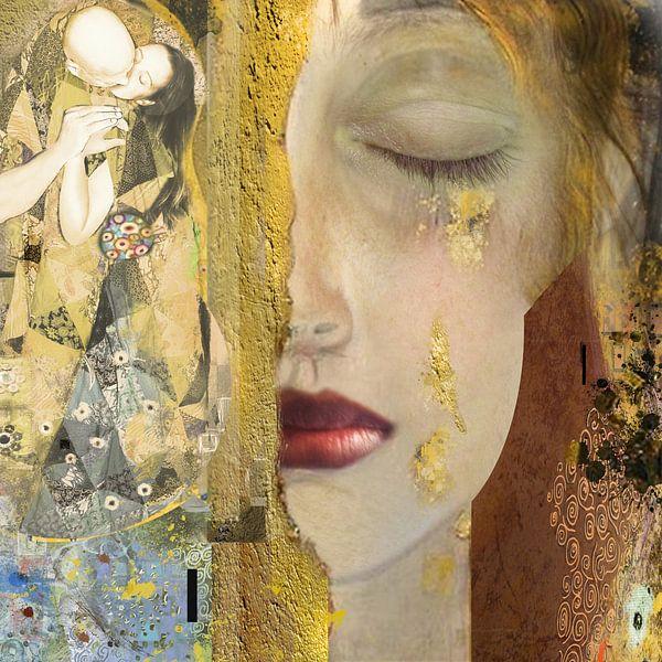 Weinen (Hommage an Gustav Klimt) von Dray van Beeck