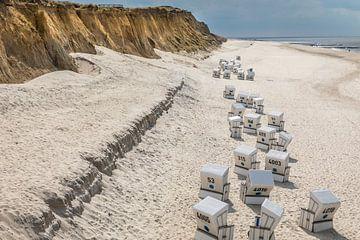 Strandkörbe am Roten Kliff in Kampen, Sylt von Christian Müringer