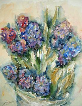 Blaue Hyazinthen. von Ineke de Rijk