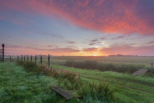 Sunrise choc pays province du Flevoland